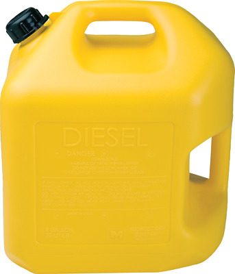5 Gallon Yellow Diesel Can (2 Per Pack) - Midwest P#8600
