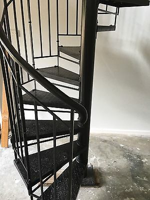 Wrought Iron Plain Bal'strade steel treads S'rcase 1300 Dim,$1190/M Height