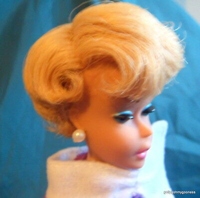 VINTAGE Barbie SIDE PART BUBBLECUT BLONDE Excellent restored RARE