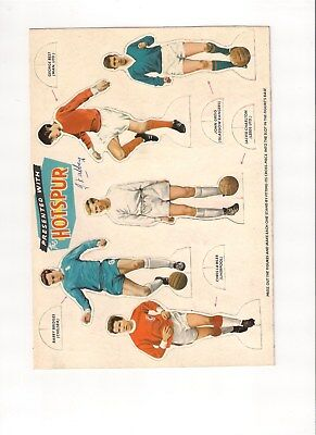 Hotspur Comic Free Gift Stand Up Footballers uncut sheet October 9th 1965 rare !
