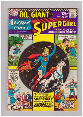 Action Comics # 334  Supergirl 80 page giant # grade 3.5 scarce book !!