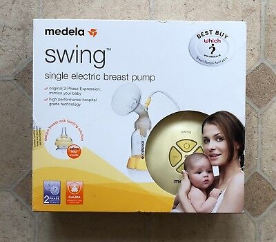 Medela Swing Single Electric Breast Pump With Calma Quality New Sealed In Box