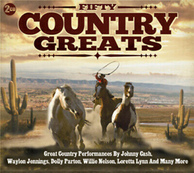 Various Artists : Fifty Country Greats CD 3 discs (2012) FREE Shipping, Save £s