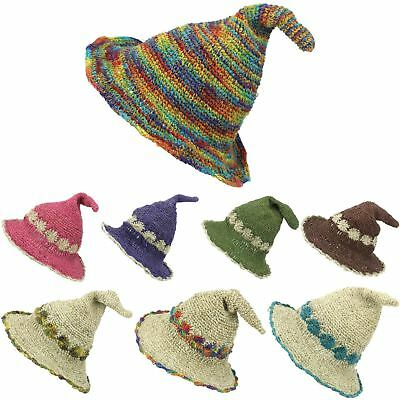 Sun Hat Hemp Cotton Summer LoudElephant Wizard Witch Gnome Cap Boho Hippie