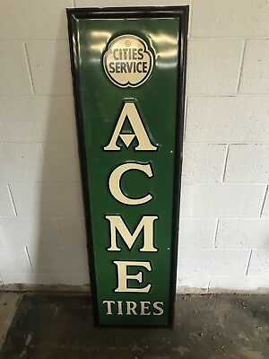 cities service acme tires sign