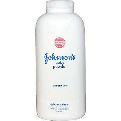 4x Bottles Johnson's Baby Powder - Soothing Delicate Silky Soft Dry Skin - 4oz