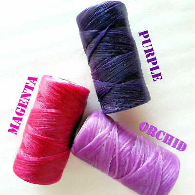 Imitation Sinew for Basket Gourd Leather Craft 4 oz PINK PURPLE ORCHID - CHOOSE