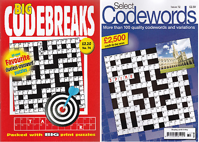 Code Word And Code Break Puzzle Book - 2 Book Set - 173+ Puzzles - Set 195