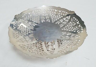 Mappin And Webb Silver Plated Tazza / Dish / Comport London & Sheffield 417G