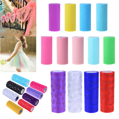 15cm x 25Yard Tulle Roll Spool Tutu Wedding Party Gift Wrap Fabric Craft Decor