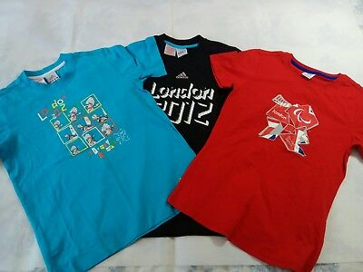 Adidas  Job Lot kids Boys London 2012 Olympic Games 3 T-shirts Age 11/12 Years