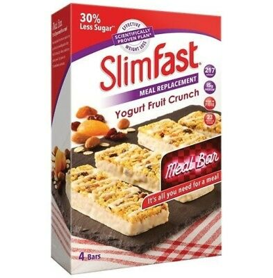 12 x Slim Fast Meal Replacement Bars (3 boxes)  - Yoghurt Fruit Crunch
