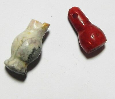 Zurqieh - As5966- Ancient Egypt,  Two Stone Poppy Seeds Amulet Fragments