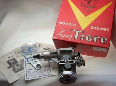 New Old Stock Vintage Super Tigre G40 Remote Controlled Engine Italy 1966 No Res