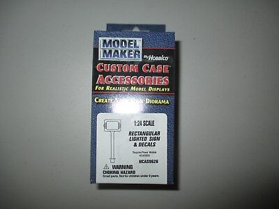 HCAS9626 Model Maker by Hobbico 1:18 scale Rectangular Lighted Sign & Decals