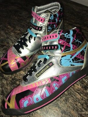 aabb98547d1bf9 New Vintage Metallic Retro Colorful Reebok Classic Freestyle Hi Top Sz.10    41