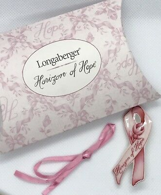 Longaberger Horizon of Hope Pink Ribbon Tie On in Original Box