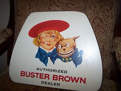Vintage BUSTER BROWN Shoes Authorized Dealer Store Advertising Sign Collectibles