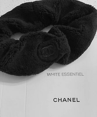 Chanel VIP Headband Velour Terry Cloth NIB Black