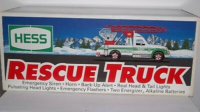 1994 Hess Rescue Truck New In Box No Battery Damage