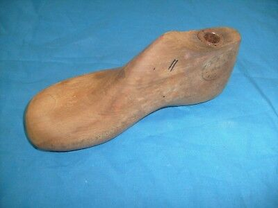 1947 Vintage Child's Wood Shoe foot - Stamped Empire Branch D. L. Co. Rochester
