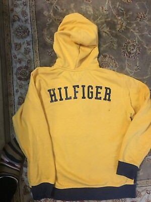 VINTAGE 90S TOMMY HILFIGER spell out HOODIE SWEATShirt youth XL 16-18
