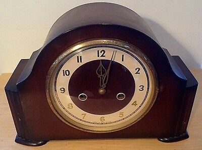 "Smiths Enfield Clock Co Chiming Mantel Clock 30cm/12"" Wide"