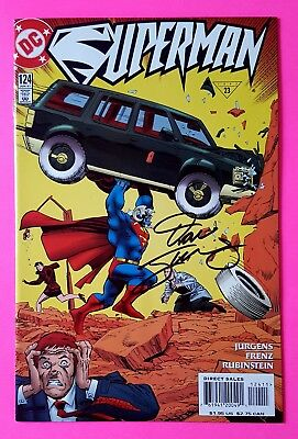 Superman #124 Action Comics #1 Homage Dc 1997 Signed By Dan Jurgens With Coa Nm