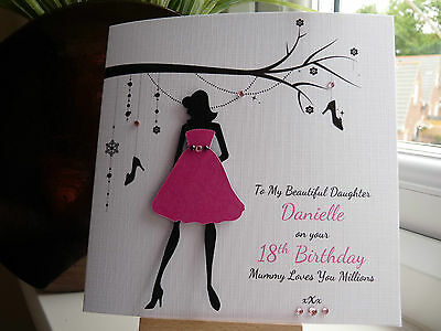 Personalised Hand made Beautiful Betty Boop Prom /&  All Celebration Cards
