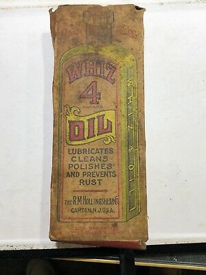 Whiz Number 4 Oil Bottle Original Box   See The Pics   No Reserve