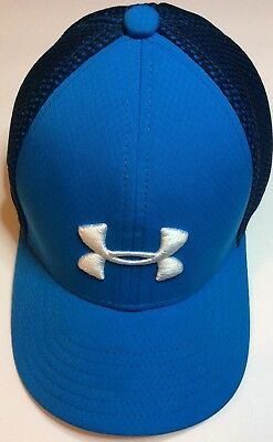 Under Armour Blue Boys Golf Mesh Fitted Cap Youth Size XS