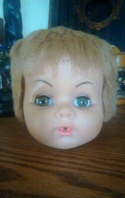 """Vintage AE # 478 Drink & Wet Doll~Big 20"""" Baby Girl TLC Head Only. Free Ship"""