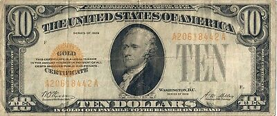 1928 A Series Ten Dollar $10 Gold Certificate