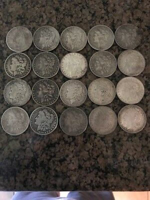 Roll of 20 circulated Morgan Dollars - nice mix of dates and condition