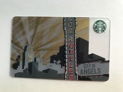 2014 Starbucks Los Angeles City Of Angels State Collectible $0 Gift Card USA
