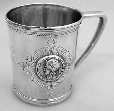 Medallion Child's Cup Ginnie May Dec 25 1871 Sterling Silver