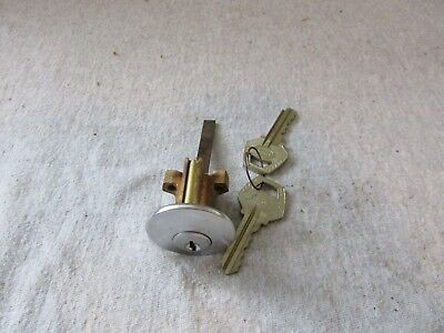 VTG Corbin Brass Stainless Mortise Cylinder Door Lock w/ keys