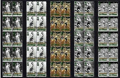 Betty Cuthbert Olympic Icon Set Of 5 Mint Stamp Strips