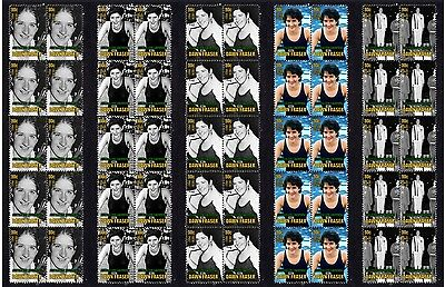 Dawn Fraser Swimming Icon Set Of 5 Mint Stamp Strips