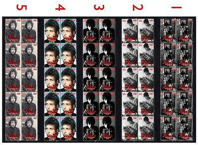 Bob Dylan American Icon Set Of 5 Mint Stamp Strips