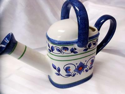 PFALTZGRAFF Green/Blue ORLEANS Pitcher WATERING CAN Flower Vase MINT Excellent