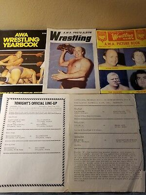 Awa Wrestling Yearbooks Photo Albums And Lineup Sheets 1968 1977
