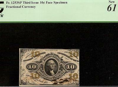 10 Cent Hand Signed Face Specimen Fractional Currency Shield Note Csa Paper Pcgs