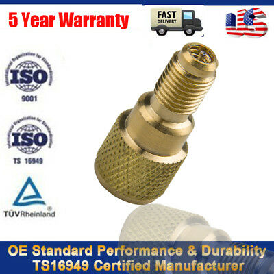 """R134a Brass Refrigerant Adapter 1/4"""" Male To 1/2"""" ACME Female Charging Hose Pump"""