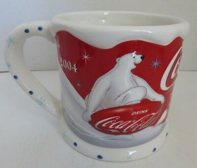 2004 Coca-Cola Houston Harvest Winter Bear Coffee Mug               (Inv18313)
