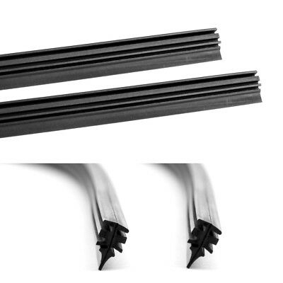 """2 PCs 28"""" Frame less 6 mm Auto Car Bus Windshield Wiper Blade Rubber Refill"""