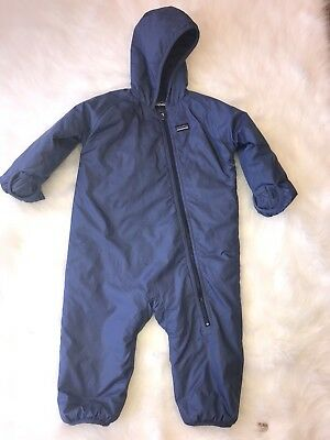 Patagonia Puffball Baby Snowsuit Hooded Boy 24 Month Blue