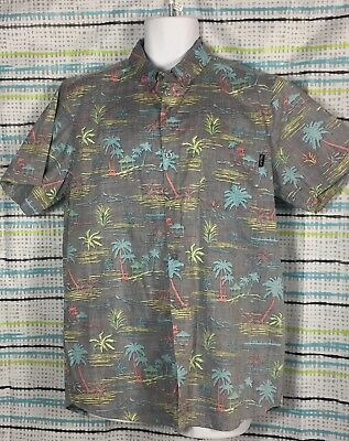 a5d32334 Molokai Surf Co Hawaiian Reverse Print Shirt Mens XL Aloha Button Down Slim  Fit