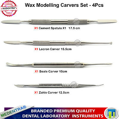Wax Modelling Carvers Le Cron Zahle Beale Cement Spatula Wax Sculpture Tools 4PC