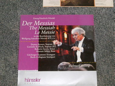 2 LP:  Der Messias, Georg F. Händel, Bach-Collegium Stuttgart, Helmuth Rilling
